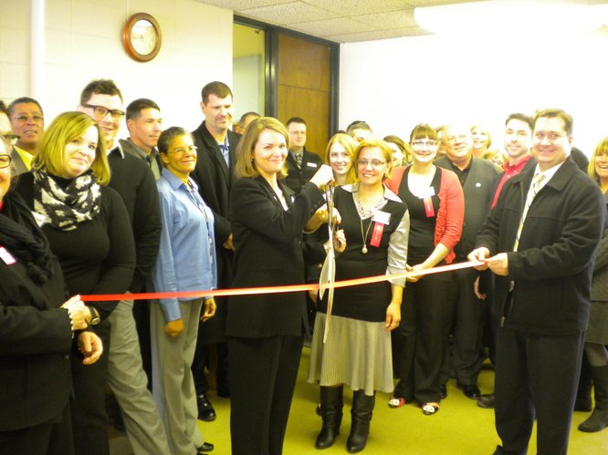 Chamber Ribbon Cutting 1/31/13 for Health Care Access Clinic and Douglas County AIDS Project