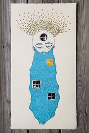 """Home Is Where The Hair Is (part one),"" by Havana Mahoney. The limited edition screenprint is one of the artworks expected to be for sale at the Fresh Squeezed Art Market on Feb. 9 in Kansas City, Mo.."