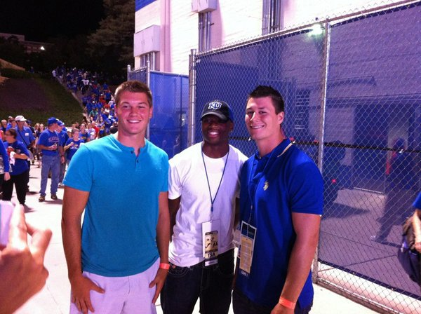 Local signees Jordan Darling, Montell Cozart and Ben Johnson at last year's season opener.