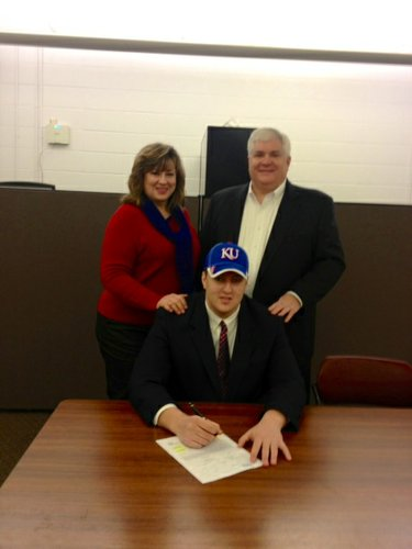 Your newest Kansas Jayhawk, offensive lineman Joey Bloomfield. 