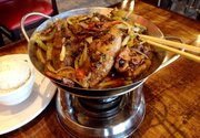 The Spicy Hot Pot with Pig's Feet at Jade Garden, 1410 Kasold Drive
