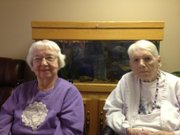 Mae Smith, left,  and Geneva McTaggart, both of Medicalodges Eudora, 1415 Maple St.,