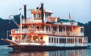Cruise down the mighty Mississippi on the nostalgic Mark Twain Riverboat in Hannibal.