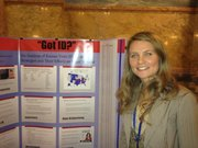 KU political science student Chelsie Bright did research on the new voter ID law.