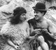 "A still image from ""His Prehistoric Past"" starring Charlie Chaplin."