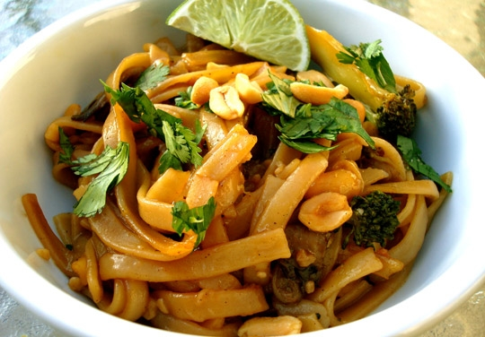 Chloe Coscarelli's Pad Thai (photo from www.chefchloe.com).