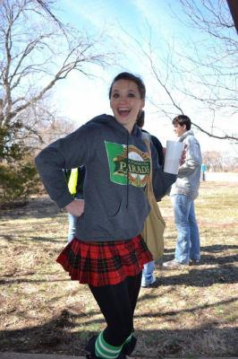 2012 St. Patrick's Day Queen Cassie Weatherwax ready for some Irish road Bowling
