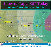 Most recent weather graphic from the National Weather Service.