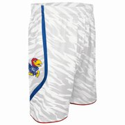 Kansas University adidas alternate uniform camo white shorts.