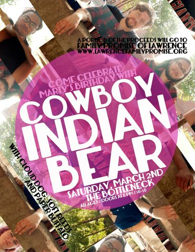Cowboy Indian Bear's Martinez Hillard will celebrate his birthday with a concert Saturday at the Bottleneck.