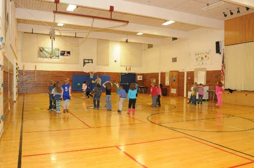 Sunset Hill school uses its gymnasium for exercise.