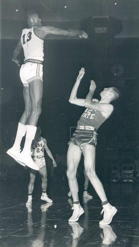 Wilt Chamberlain is high man with 30 games of 30+ points.