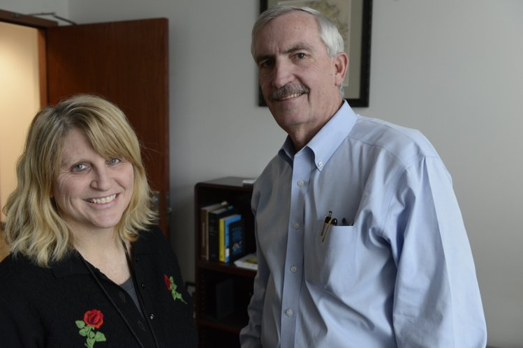 "Sharon Zehr, team leader of the Bert Nash staff at the Douglas County jail, and Steve Hornberger, Douglas County undersheriff, who oversees the jail. ""Bert Nash is an integral part of this facility and provides a great service,"" Hornberger said."