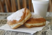 Cream Cheese Doughnuts at Munchers Bakery, 925 S. Iowa St., Suite M.