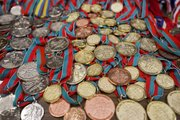 Pictured here are some of the numerous medals won by Brady Tanner over the years. Tanner will be inducted into the American Indian Athletic Hall of Fame Saturday, March 16, 2013 in Kansas City, Mo.