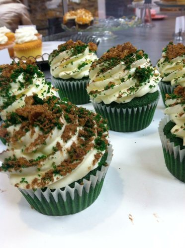 Green Velvet Cupcakes at Billy Vanilly (photo from Billy Vanilly)