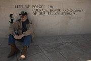 John Musgrave, of Baldwin City and seen here at Kansas University's Vietnam War memorial, is a Vietnam veteran who will be featured in documentary filmmaker Ken Burns' upcoming series about the war.