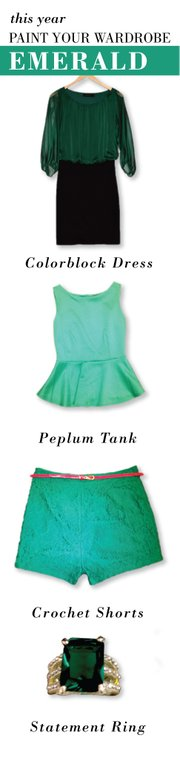 Emerald is Pantone's 2013 Color of the Year.