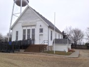 Kanwaka Township Hall, built in 1892, originally served as the Union Congregational Church.