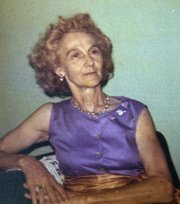 Photo of Hazel Avery, then 60, shortly before her murder in March 1973.