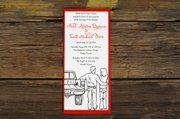 """Even if there&squot;s no dress code specified, the design and feel of a wedding invitation should clue you into the formality of the affair. The """"Mud Truck"""" design from Ruff House Art, Lawrence, would be perfect for a laid-back event."""