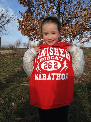 Mylie finishes her first marathon!