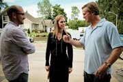 "From left, director Alonso Mayo, actress Kristin Bauer and actor Cary Elwes chat between filming scenes on ""The Story of Luke."""