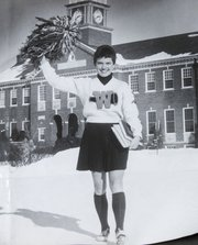 Elaine Brady as a cheerleader at Wichita State.