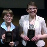 Grace Phillips, left, and Lauren Pauls qualified to the National Forensics League national tournament in congressional debate.