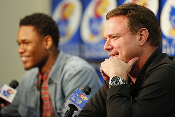 Kansas head coach Bill Self talks about coaching Ben McLemore and his decision to leave during a news conference in which McLemore declared his intention to enter the 2013 NBA Draft. Nick Krug/Journal-World Photo