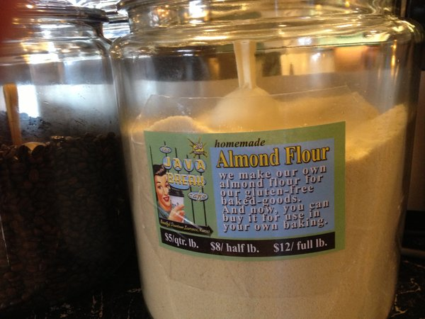 Almond flour for sale at Java Break