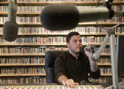 KU student John Dillingham works an afternoon music shift at the KU student radio station KJHK. The 24-7 radio station has settled into new studios in the Kansas Union and is creating several new online initiatives.
