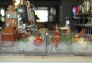 Bloody mary bar at Five Bar and Tables, 947 Massachusetts St.