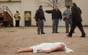 The Douglas County Sheriff's Office and Lawrence-Douglas County Fire and Medical held a field-training exercise on Tuesday at the Douglas County Fairgrounds.