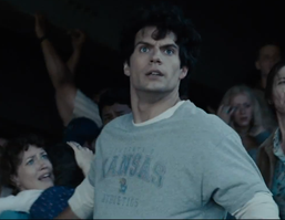 Superman sporting KU gear! Rock Chalk!  (2:21) In the new extended trailer   <a href=
