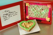 "A ""Cookie Card"" and mini cookie cake from Mrs. Fields, personalized for Mother&squot;s Day."