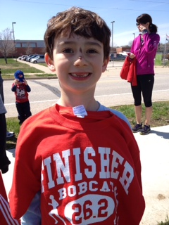 Ben runs a strong 26.2! Face plant did NOT happen during marathon club :-)