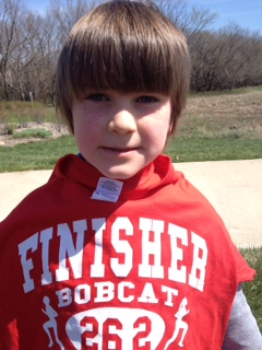Way to run, Logan! 26.2!