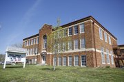 The former Lecompton Rural High School now houses Lecompton Community Pride. The organization is restoring the building to house a community center for the people of Lecompton.