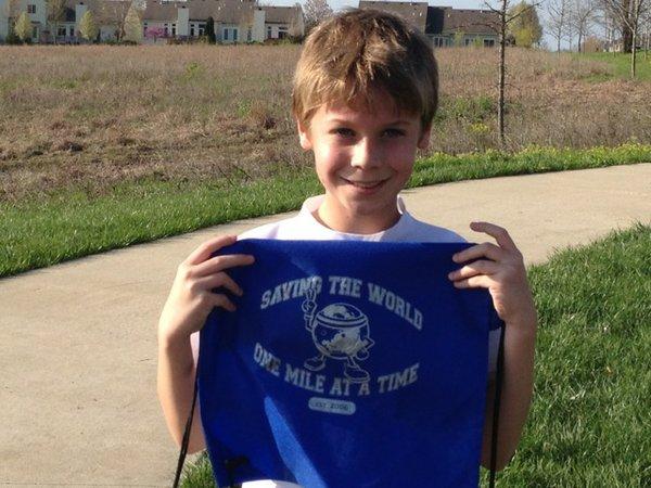 Spencer finishes marathon #2!