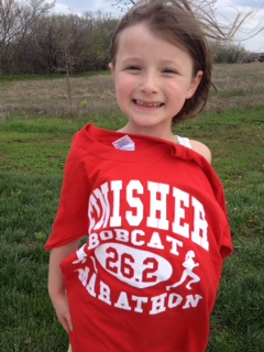 That's a winner's smile! Nice running, Avery!