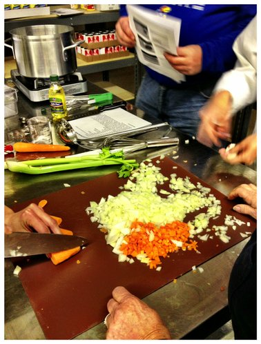 Prepping for the homemade chicken noodle soup!