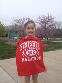 Nice finish, Olivia!