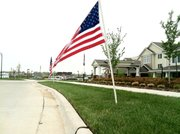 Ten American flags were stolen from the Meadowlark Estates retirement community April 29. Residents are calling on the thief or thieves to return the flags.