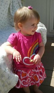 Lana-Leigh Bailey is the 18-month-old daughter of Kaylie Bailey, who officials have confirmed is among the three victims in an Ottawa triple homicide. Lana-Leigh currently is missing, but no Amber alert had been issued as of Wednesday afternoon. Photo courtesy of Kansas Bureau of Investigation.