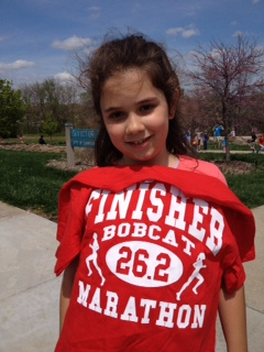 Livy is a great example to her little sister. Way to go Livy!