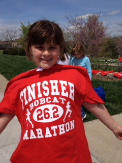 Savannah is a finisher!