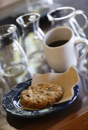 A peanut butter and bacon cookie with chocolate chips at Alchemy Coffee, 1901 Massachusetts St., Suite B.