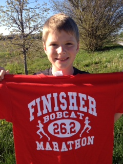 Great running, Davis! Now you are in shape for soccer!