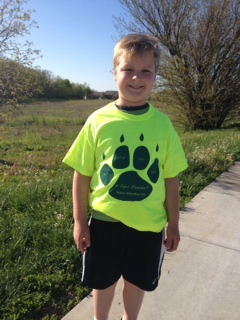 Really, Jacob? 4 marathons this school year? Wear that t-shirt proudly!